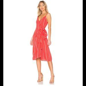 Amuse Society wrap Bordeaux red dress M